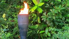 Decorative torch blazing - stock footage
