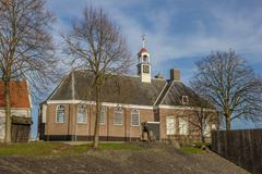 Church on the former island of Schokland Stock Photos
