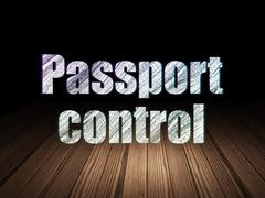Travel concept: Passport Control in grunge dark room Piirros