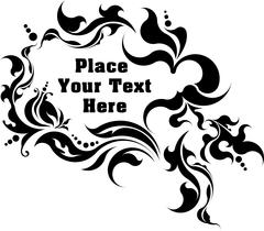 Unusual vintage floral frame for your text. Vector illustration. Stock Illustration