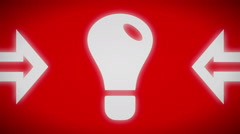Idea icon. looping. Stock Footage