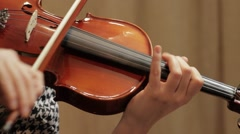 Lady Playing Violin - stock footage