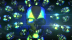 Halloween GID Loop 9 Stock Footage