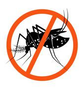 Prohibition sign for stop Mosquito Stock Illustration