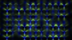 Abstract Cobalt Blue and Yellow Light Design Pattern on a Black Background HD Stock Footage