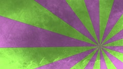Green and Purple Off-Center Moving Pinwheel HD Stock Footage