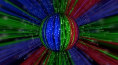 Abstract Infinite Rainbow Disco Orb HD Stock Footage