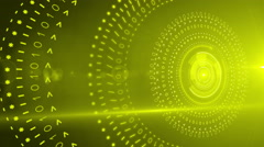 Abstract circle round background 4K YELLOW Stock Footage