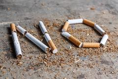 No word of a cigarette - stock photo