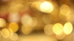 Abstract bokeh golden particles background Stock Footage