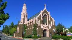 Holy Cross Greek Orthodox Church- Flagstaff AZ Stock Footage