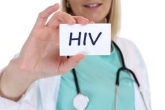 HIV AIDS diagnosis disease ill illness healthy health doctor - stock photo