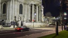 Hyperlapse of St Pauls Cathedral, London - stock footage