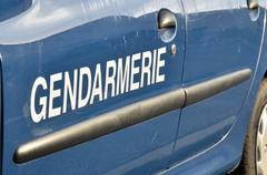 Gendarmerie vehicle, french police - stock photo