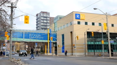 Ryerson University in Toronto, Canada. Stock Footage
