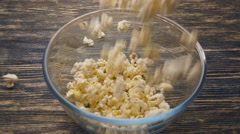 Popcorn pouring in slow motion - stock footage