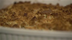 vegan food zucchini tofu pie - stock footage