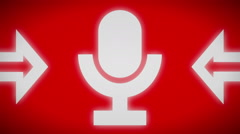 Microphone icon. Looping. - stock footage