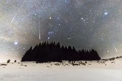 Geminids Meteor Shower - stock photo