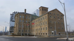 Don Jail building in Toronto. Stock Footage