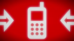 Mobile icon. looping. Stock Footage