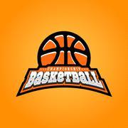 Basketball championship logo. T-shirt design Stock Illustration