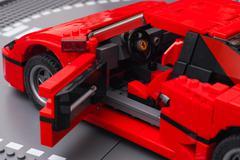 Lego Ferrari F40 car with open driver door Kuvituskuvat