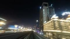 Night metro time lapse - stock footage