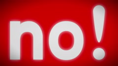 """""""No!"""" sign. looping. Arkistovideo"""