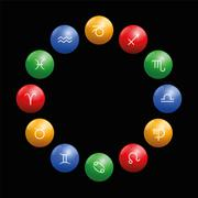 Radix Astrology Signs Circle Black Stock Illustration