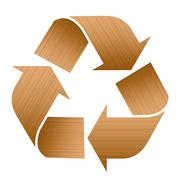Recycling Symbol Wood Texture - stock illustration