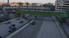 Jones Falls Expressway in Downtown Baltimore City, Maryland. Stock Footage