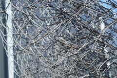 Background of folded mesh netting - stock photo