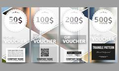 Modern gift voucher templates. Abstract multicolored background of blurred - stock illustration