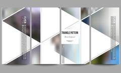 Modern vector flyers. Abstract multicolored background of blurred nature Stock Illustration