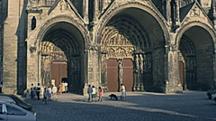 Laon, France 1977: Notre Dame cathedral Stock Footage