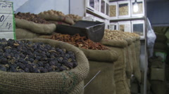 Dried fruits and nuts Stock Footage