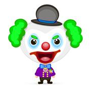 crazy clown illustration - stock illustration