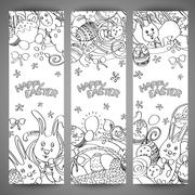 Stock Illustration of Set of creative multi colour vector banners for Happy Easter