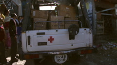 Medical supply truck Stock Footage