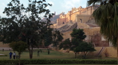 The amber fort from a distance Stock Footage