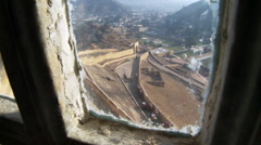 Elephant fort entrance from window Stock Footage