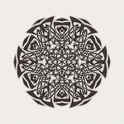 Vector mandala. Gothic lace tattoo. Celtic weave with sharp corners. Stock Illustration