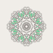 Vector mandala. Gothic lace tattoo. Celtic weave with sharp corners. Stock Illustration
