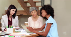 Serious women working Stock Footage