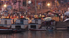 Phuja Ceremony Ghat Stock Footage