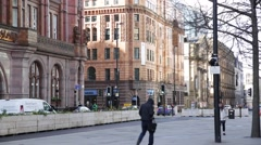 Manchester city centre, England, Europe Stock Footage