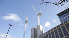 Building site: crane. Manchester, England, Europe Stock Footage