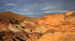Artists Palette in Death Valley National Park Timelapse Stock Footage