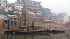 Varanasi sinking Ghat Stock Footage